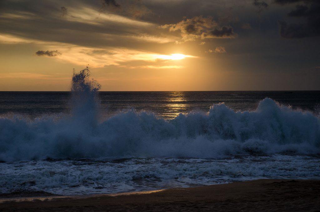 Beautiful cloudy sunset in Bali