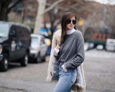 Layering a Turtleneck Under Every Single Outfit